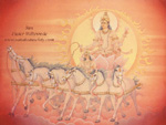 Click to the website of Sanatan Society for a larger image of this Planet Sun painting