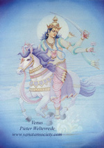 Click to the website of Sanatan Society for a larger image of this Planet Venus painting