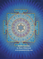 Click to the website of Sanatan Society for a larger image of this Moon Yantra painting