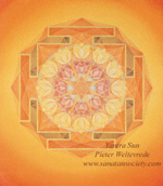 Click to the website of Sanatan Society for a larger image of this Sun Yantra painting